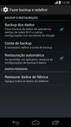 Motorola Moto X (2014) - Funções básicas - Como restaurar as configurações originais do seu aparelho - Etapa 7