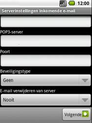 LG P350 Optimus Me - E-mail - handmatig instellen - Stap 8