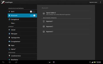 Sony SGP321 Xperia Tablet Z LTE - Bluetooth - Aanzetten - Stap 5