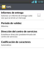 LG Optimus L5 II - Mensajería - Configurar el equipo para mensajes de texto - Paso 7
