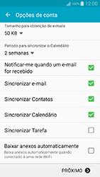 Samsung Galaxy A5 - Email - Como configurar seu celular para receber e enviar e-mails - Etapa 9