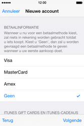 Apple iPhone 4s iOS 8 - Applicaties - Account aanmaken - Stap 20