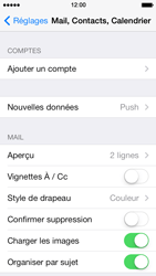 Apple iPhone 5s - E-mail - Configuration manuelle - Étape 5