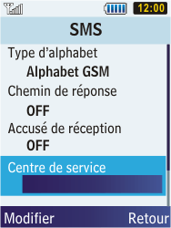 Samsung C3350 Xcover 2 - SMS - configuration manuelle - Étape 6