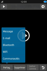 Samsung Wave M - Photos, vidéos, musique - Créer une vidéo - Étape 13