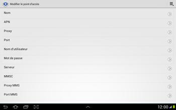 Samsung N8000 Galaxy Note 10-1 - MMS - Configuration manuelle - Étape 10