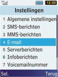 Samsung C3350 Xcover 2 - E-mail - e-mail instellen: POP3 - Stap 5