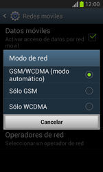 Samsung i8260 Galaxy Core - Red - Seleccionar el tipo de red - Paso 7