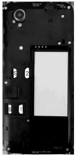 Alcatel 1 - Premiers pas - Insérer la carte SIM - Étape 6