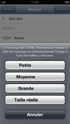 Apple iPhone 5 - E-mail - Envoi d