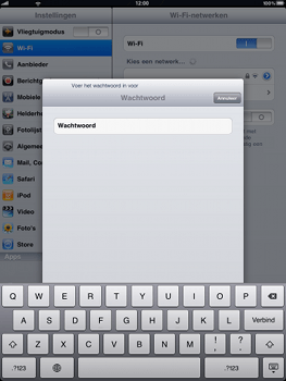 Apple iPad - Wifi - handmatig instellen - Stap 6