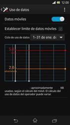 Sony Xperia Z - Internet - Ver uso de datos - Paso 10