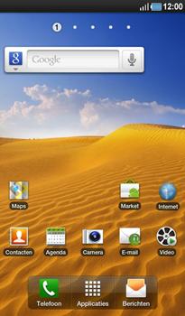 Samsung P1000 Galaxy Tab - SMS - Handmatig instellen - Stap 1