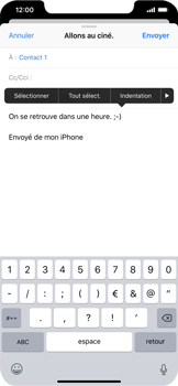 Apple iPhone XS Max - E-mails - Envoyer un e-mail - Étape 9