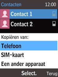 Nokia 215 (Type RM-1111) - Contacten en data - Contacten kopiëren van SIM naar toestel - Stap 6