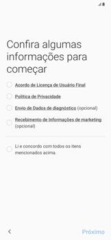 Samsung Galaxy A20 - Primeiros passos - Como ativar seu aparelho - Etapa 6