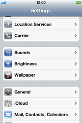 Apple iPhone 4 S - Internet - Disable mobile data - Step 3