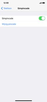 Apple iPhone X - Beveiliging en ouderlijk toezicht - Hoe wijzig ik mijn SIM PIN-code - Stap 12