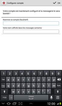 Samsung P3100 Galaxy Tab 2 7-0 - E-mail - Configuration manuelle - Étape 15