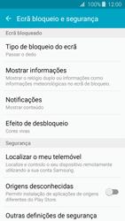 Samsung Galaxy J3 (2016) - Segurança - Como ativar o código de bloqueio do ecrã -  5