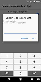 Sony Xperia XZ2 - Sécuriser votre mobile - Personnaliser le code PIN de votre carte SIM - Étape 7