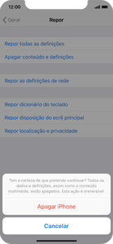 Apple iPhone XS - Repor definições - Como repor definições de fábrica do telemóvel -  8