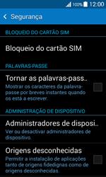 Samsung Galaxy Ace 4 - Segurança - Como ativar o código PIN do cartão de telemóvel -  5