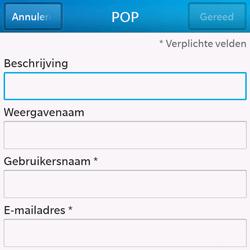 BlackBerry Q10 - E-mail - Handmatig instellen - Stap 8