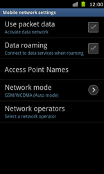 Samsung I9070 Galaxy S Advance - Network - Usage across the border - Step 6