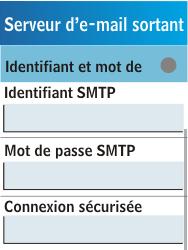Samsung C3300K - E-mail - Configuration manuelle - Étape 18