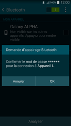 Samsung G850F Galaxy Alpha - Bluetooth - connexion Bluetooth - Étape 9