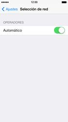 Apple iPhone 5s - Red - Seleccionar una red - Paso 4