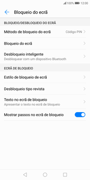 Huawei P Smart - Segurança - Como ativar o código de bloqueio do ecrã -  13