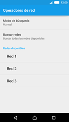 Sony Xperia M4 Aqua - Red - Seleccionar una red - Paso 10