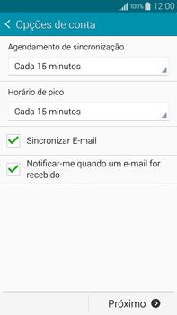 Samsung N910F Galaxy Note 4 - Email - Como configurar seu celular para receber e enviar e-mails - Etapa 16