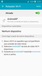 Samsung Galaxy S6 - Wi-Fi - Como usar seu aparelho como um roteador de rede wi-fi - Etapa 12