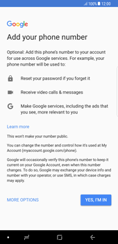 Samsung Galaxy S8 Plus - Android Oreo - Applications - Create an account - Step 12