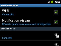 Samsung B5510 Galaxy TXT - Wifi - configuration manuelle - Étape 8