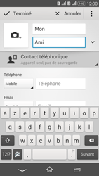 Sony Xperia E4g - Contact, Appels, SMS/MMS - Ajouter un contact - Étape 7