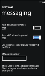 Nokia Lumia 610 - SMS - Manual configuration - Step 5