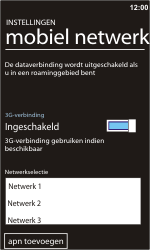 Nokia Lumia 900 - Netwerk - gebruik in het buitenland - Stap 11