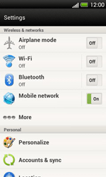 HTC T320e One V - Network - Usage across the border - Step 4