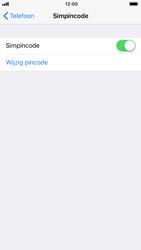 Apple iPhone 8 (Model A1905) - Beveiliging en ouderlijk toezicht - Hoe wijzig ik mijn SIM PIN-code - Stap 5