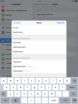 Apple iPad Pro (9.7) - E-mail - e-mail instellen: IMAP (aanbevolen) - Stap 13