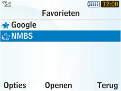 Samsung S3350 Chat 335 - Internet - Hoe te internetten - Stap 11
