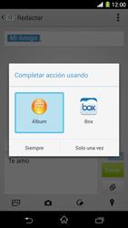 Sony Xperia Z1 - Mensajería - Escribir y enviar un mensaje multimedia - Paso 17