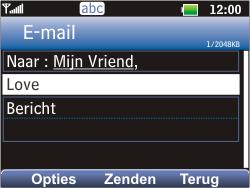 LG C360 Golf - E-mail - E-mails verzenden - Stap 7