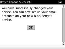 BlackBerry 8520 - E-mails - Ajouter ou modifier un compte e-mail - Étape 8