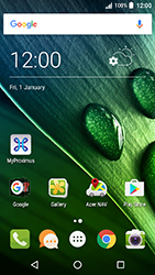 Acer Liquid Zest 4G - WiFi and Bluetooth - Manual configuration - Step 1
