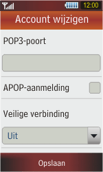 Samsung S5230 Star - E-mail - e-mail instellen: POP3 - Stap 11